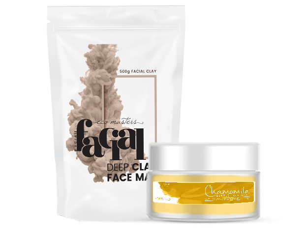 Clay Facial, Chamomile Face Hydrate, Chamomile Face Mask